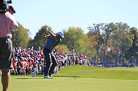 Henrik Stenson (Team Europe) during Sunday Singles matches at the Ryder Cup, Hazeltine National Golf Club, Chaska, Minnesota, USA. 02/10/2016<br /> Picture: Golffile | Fran Caffrey<br /> <br /> <br /> All photo usage must carry mandatory copyright credit (&copy; Golffile | Fran Caffrey)