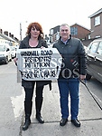 Residents Caroline Gormley from Windmill road and Gerard Donnelly Annville Crescent at the Windmill Road Parking Protest. Photo:Colin Bell/pressphotos.ie