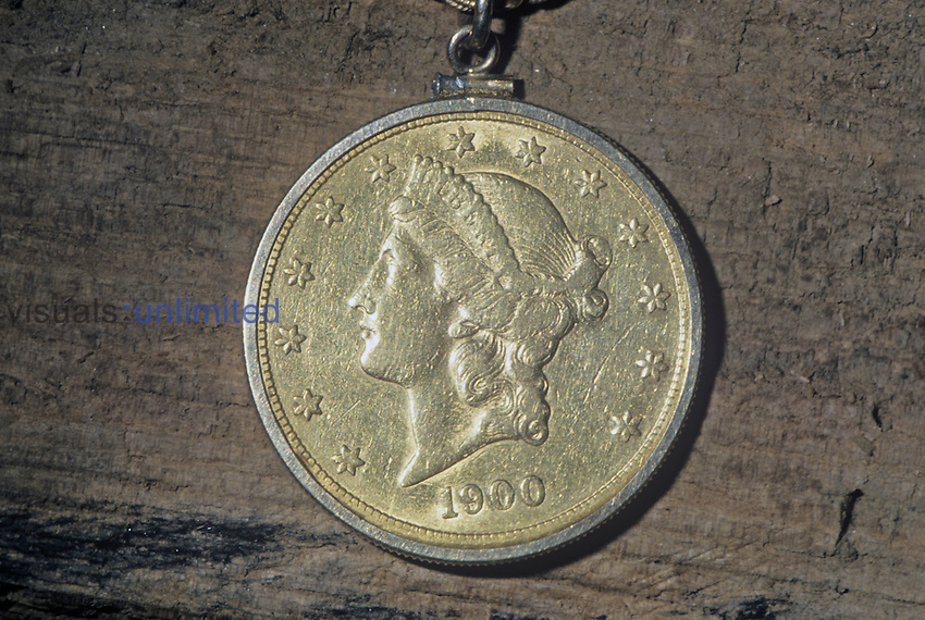 Gold coin, $10.00 eagle, composed of 90% Gold and 10% Copper.