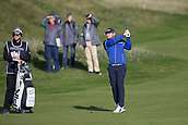 6th October 2017, Carnoustie Golf Links, Carnoustie, Scotland; Alfred Dunhill Links Championship, second round; England's Tyrrell Hatton, winner in 2016, hits a shot from the fairway on the second hole during the second round at the Alfred Dunhill Links Championship on the Championship Links, Carnoustie
