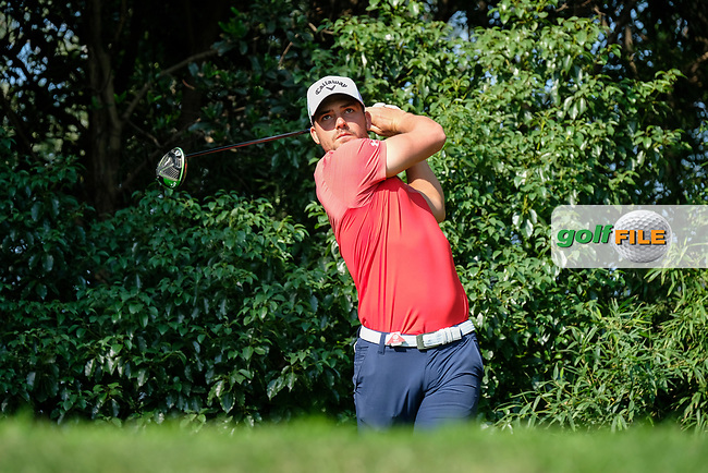 Haydn Porteous (RSA) on the 2nd during the preview of 2017 WGC HSBC Champions, Sheshan International Golf Club, Shanghai, China PR. 24/10/2017<br /> Picture: Golffile | Fran Caffrey<br /> <br /> <br /> All photo usage must carry mandatory copyright credit (&copy; Golffile | Fran Caffrey)