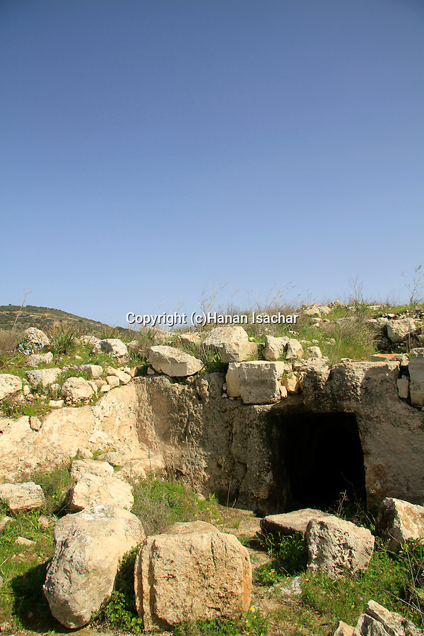 Israel, Lower Galilee, a burial cave at Hurvat Cana site of Ancient Cana