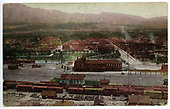 Elevation, Colorized, view of Salida with D&amp;RG facilities in foreground.<br /> D&amp;RG  Salida, CO