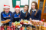 Transition Year students  l-r  Niamh Stack, Maeve Scanlon, Renee Cooke and Erica Mulcare at the St. Joseph's Secondary School, Ballybunion  Annual Christmas Fair on Monday