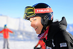 Swiss Wendy Holdener is seen before the opening of the FIS Alpine Ski World Cup  on 23/10/2015 in Soelden, Austria.