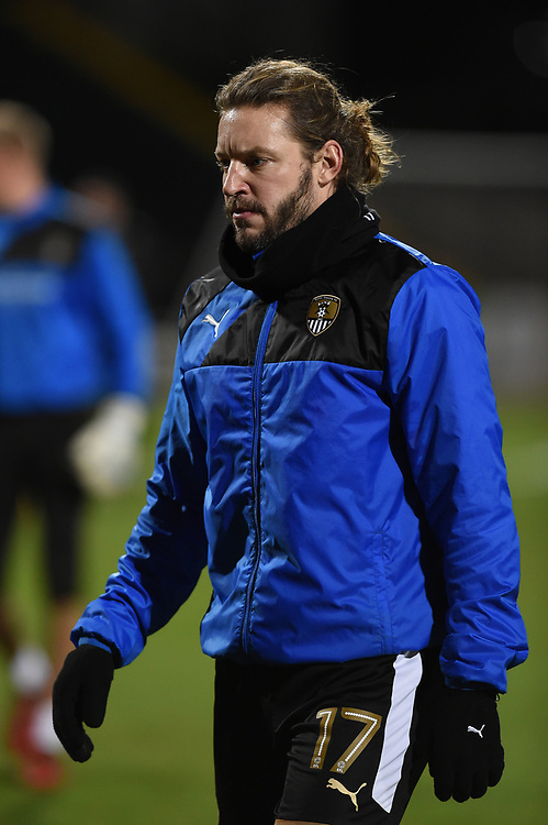 Notts County's Alan Smith during the pre-match warm-up <br /> <br /> Photographer Jon Hobley/CameraSport<br /> <br /> The EFL Sky Bet League Two - Notts County v Crawley Town - Tuesday 23rd January 2018 - Meadow Lane - Nottingham<br /> <br /> World Copyright &copy; 2018 CameraSport. All rights reserved. 43 Linden Ave. Countesthorpe. Leicester. England. LE8 5PG - Tel: +44 (0) 116 277 4147 - admin@camerasport.com - www.camerasport.com
