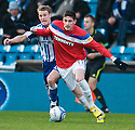 RANGERS' KYLE LAFFERTY GETS AWAY FROM KILMARNOCK'S DEAN SHIELS