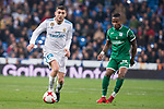 Real Madrid Mateo Kovacic and Leganes Roberto Roman Tito during King's Cup match between Real Madrid and Leganes at Santiago Bernabeu Stadium in Madrid, Spain. January 24, 2018. (ALTERPHOTOS/Borja B.Hojas)