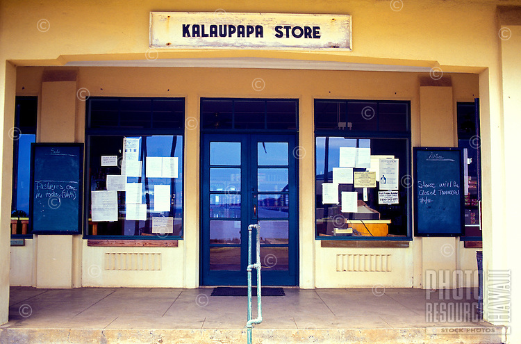 Exterior view of the Kalaupapa Store, the only store in the settlement