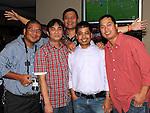 Jhun, Erik, Ninoy, Toto and Darius pictured at Mary Jane Posadas's 40th birthday in Brú. Photo: Colin Bell/pressphotos.ie