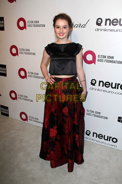 WEST HOLLYWOOD, CA - March 02: Kaitlyn Dever at the 22nd Annual Elton John AIDS Foundation Oscar Viewing Party, Private Location, West Hollywood,  March 02, 2014.  <br /> CAP/MPI/JO<br /> &copy;Janice Ogata/MediaPunch/Capital Pictures
