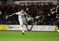 Pictured: Ferrie Bodde of Swansea City in action <br />