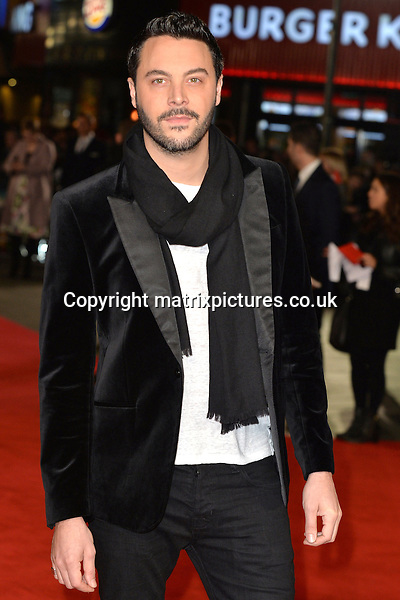 NON EXCLUSIVE PICTURE: MATRIXPICTURES.CO.UK<br /> PLEASE CREDIT ALL USES<br /> <br /> WORLD RIGHTS<br /> <br /> English actor Jack Huston attending the Pride And Prejudice And Zombies European Film Premiere, at Vue West End cinema in London.<br /> <br /> FEBRUARY 1st 2016<br /> <br /> REF: JWN 16273