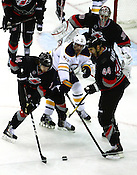The Carolina Hurricanes defeated the Buffalo Sabres 4-2 at home Jan. 6, 2012. Photo by Peggy Boone