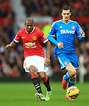 Adam Johnson of Sunderland chases Ashley Young of Manchester United - Manchester United vs. Sunderland - Barclay's Premier League - Old Trafford - Manchester - 28/02/2015 Pic Philip Oldham/Sportimage