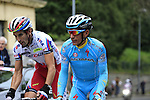 Alberto Losada Alguacil (ESP) Katusha and Paolo Tiralongo (ITA) Astana tackle the final climb of Superga near the finish of the 2015 96th Milan-Turin 186km race starting at San Giuliano Milanese, Italy. 1st October 2015.<br /> Picture: Eoin Clarke | Newsfile