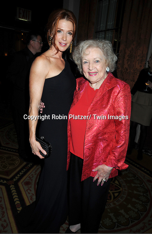 Poppy Montgomery and Betty White attend the 2011 Broadcasting & Cable Hall of Fame Awards on October 26, 2011 at the Waldorf Astoria Hotel in New York City.