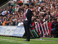 Nottingham Forest manager Aitor Karanka looks on during the game <br /> <br /> Photographer Ian Cook/CameraSport<br /> <br /> The EFL Sky Bet Championship - Swansea City v Nottingham Forest - Saturday 15th September 2018 - Liberty Stadium - Swansea<br /> <br /> World Copyright &copy; 2018 CameraSport. All rights reserved. 43 Linden Ave. Countesthorpe. Leicester. England. LE8 5PG - Tel: +44 (0) 116 277 4147 - admin@camerasport.com - www.camerasport.com