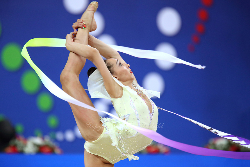 August 31, 2017 - Pesaro, Italy - SALOME PAZHAVA of Georgia performs during at 2017 World Championships.