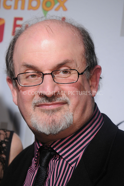 WWW.ACEPIXS.COM . . . . . ....December 11 2008, New York City....Salman Rushdie at the Lunchbox Auction presented by Gourmet Magazine, to benefit the Food Bank of New York City and The Lunchbox Fund of South Africa at Milk Studios on December 11, 2008 in New York City....Please byline: KRISTIN CALLAHAN - ACEPIXS.COM.. . . . . . ..Ace Pictures, Inc:  ..tel: (212) 243 8787 or (646) 769 0430..e-mail: info@acepixs.com..web: http://www.acepixs.com
