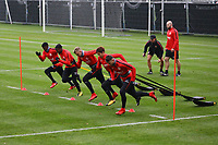 Taleb Tawatha (Eintracht Frankfurt), Jonathan de Guzman (Eintracht Frankfurt), Marius Wolf (Eintracht Frankfurt), Daichi Kamada (Eintracht Frankfurt), Danny Blum (Eintracht Frankfurt) - 08.11.2017: Eintracht Frankfurt Training, Commerzbank Arena