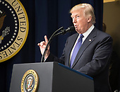 "United States President Donald J. Trump makes remarks at a set of panel discussions titled ""Conversations with the Women of America"" at the White House in Washington, DC on Tuesday, January 16, 2018.  The President's remarks touched on the economy, healthcare, combatting the opioid crisis and national security.<br /> Credit: Ron Sachs / CNP"