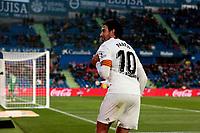 Valencia CF's Daniel Parejo celebrates goal during La Liga match between Getafe CF and Valencia CF at Coliseum Alfonso Perez in Getafe, Spain. November 10, 2018.<br /> Liga Campionato Spagna 2018/2019<br /> Foto Alterphotos / Insidefoto <br /> ITALY ONLY