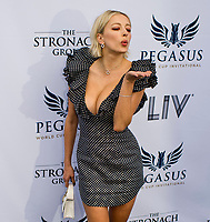 HALLANDALE BEACH, FL - JANUARY 27: Caroline Vreeland on the Blue Carpet on Pegasus World Cup Invitational Day at Gulfstream Park Race Track on January 27, 2018 in Hallandale Beach, Florida. (Photo by Scott Serio/Eclipse Sportswire/Getty Images)