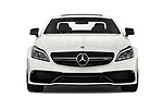 Car photography straight front view of a 2017 Mercedes Benz CLS-Class AMG-CLS63-4MATIC 4 Door Sedan Front View