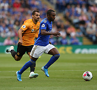 Leicester City's Ricardo Pereira chased by Wolverhampton Wanderers' Jonathan Castro Otto <br /> <br /> Photographer Stephen White/CameraSport<br /> <br /> The Premier League - Leicester City v Wolverhampton Wanderers - Sunday 11th August 2019 - King Power Stadium - Leicester<br /> <br /> World Copyright © 2019 CameraSport. All rights reserved. 43 Linden Ave. Countesthorpe. Leicester. England. LE8 5PG - Tel: +44 (0) 116 277 4147 - admin@camerasport.com - www.camerasport.com