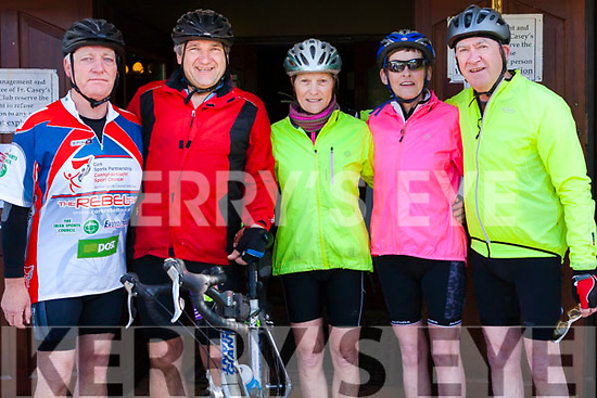 At the Rembering Zoe Cycle Challenge on Sunday morning were Crotta Leisure Cyclists , Lixnaw.<br /> Gerard Carmody, Tim O' Sullivan, Nuala Brassil, Ann Meehan, Liam Gowan.