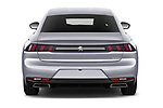 Straight rear view of 2018 Peugeot 508 Allure 5 Door Hatchback Rear View  stock images