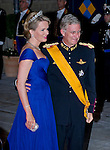 """PRINCE PHILIPPE AND PRINCESS MATHILDE OF BELGIUM.Wedding of HRH the Hereditary Grand Duke and Countess Stéphanie de Lannoy.Gala Dinner at the Grand-Ducal Palace, Luxembourg_19-10-2012.Mandatory credit photo: ©Dias/NEWSPIX INTERNATIONAL..(Failure to credit will incur a surcharge of 100% of reproduction fees)..                **ALL FEES PAYABLE TO: """"NEWSPIX INTERNATIONAL""""**..IMMEDIATE CONFIRMATION OF USAGE REQUIRED:.Newspix International, 31 Chinnery Hill, Bishop's Stortford, ENGLAND CM23 3PS.Tel:+441279 324672  ; Fax: +441279656877.Mobile:  07775681153.e-mail: info@newspixinternational.co.uk"""