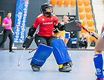 ROTTERDAM  - NK Zaalhockey .Kampong D1-Den Bosch D1 dames voor brons. Tinker Prins (Den Bosch)      COPYRIGHT KOEN SUYK