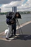 Two photographers using a large plate camera, Rotterdam, Netherlands