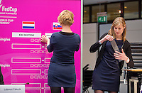 Februari 06, 2015, Apeldoorn, Omnisport, Fed Cup, Netherlands-Slovakia, Draw, Cityhall, <br /> Photo: Tennisimages/Henk Koster