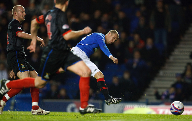 Kenny Miller gets the ball into the net but the goal is chalked off