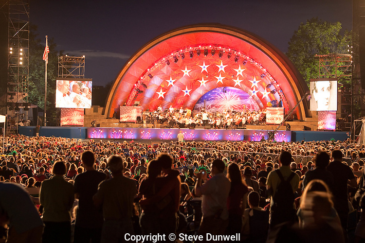 Boston Pops at Hatch Shell, July 3rd, Boston, MA