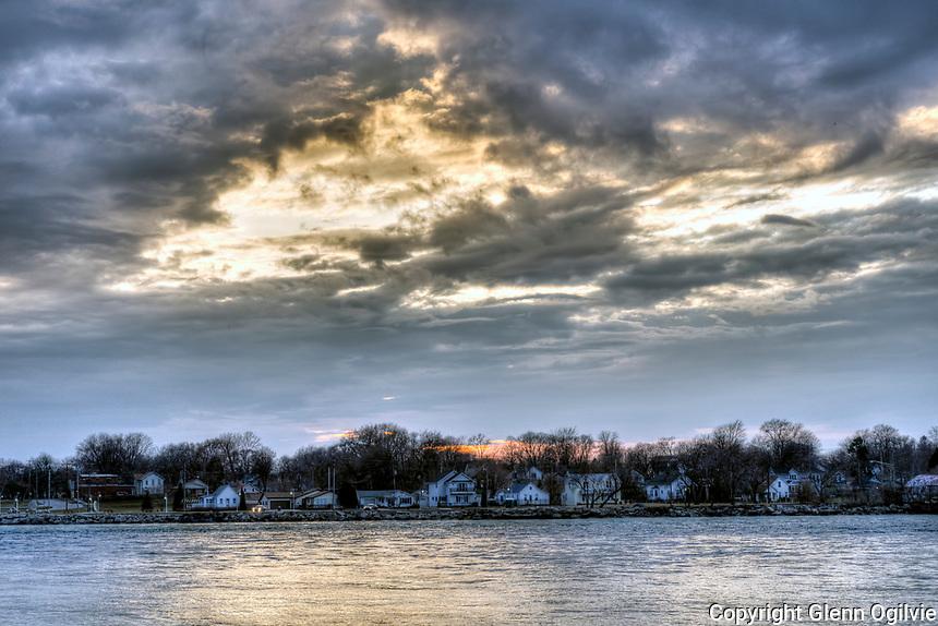 Port Huron Michigan at dusk