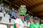 05.07.2019, Parkstadion, Zell am Ziller, AUT, TL Werder Bremen - Tag 01<br /> <br /> im Bild / picture shows <br /> <br /> Fans Zillertal <br /> Werder Fan Michael Stecher aus Schiers in der Schweiz mit imposanter Kopfbedeckung <br /> <br /> Foto © nordphoto / Kokenge