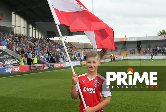 Fleetwood Town young Flag Bearers ahead of Sky Bet League 1 match between Fleetwood Town and Rochdale at Highbury Stadium, Fleetwood, England on 18 August 2018. Photo by Stephen Gaunt / PRiME Media Images.