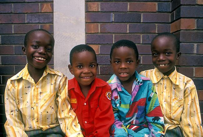 Children, Harare, Harare Province, Zimbabwe, Africa