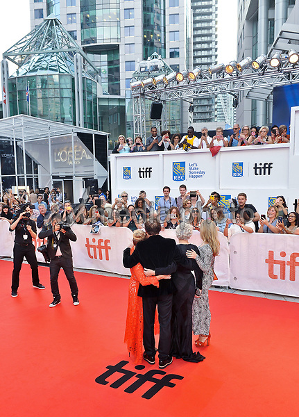 "14 September 2017 - Toronto, Ontario Canada - Alix Wilton Regan, Glenn Close, Bjorn Runge and Annie Starke. 2017 Toronto International Film Festival - ""The Wife"" Premiere held at Roy Thomson Hall. Photo Credit: Brent Perniac/AdMedia"