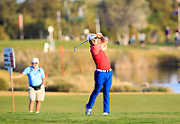 Haydn Porteous (RSA) on the 18th during the 1st round of the 2017 Portugal Masters, Dom Pedro Victoria Golf Course, Vilamoura, Portugal. 21/09/2017<br /> Picture: Fran Caffrey / Golffile<br /> <br /> All photo usage must carry mandatory copyright credit (&copy; Golffile | Fran Caffrey)
