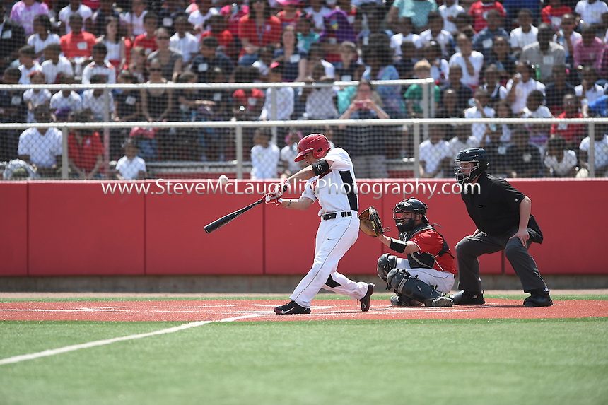 WEST HARTFORD, Conn. – Junior second baseman Aaron Wilson was a perfect 3-for-3 at the plate and drove in three runs to lead the University of Hartford baseball team to a 9-6 win over visiting Northeastern on Tuesday afternoon at Fiondella Field. Included in Wilson's performance was his second home run of the season, a two-out solo blast to right field.