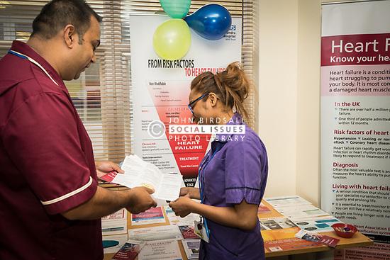 The Princess Alexandra Hospital, Harlow, Nursing & Midwifery Celebration Day - training and information, UK. Heart disease information