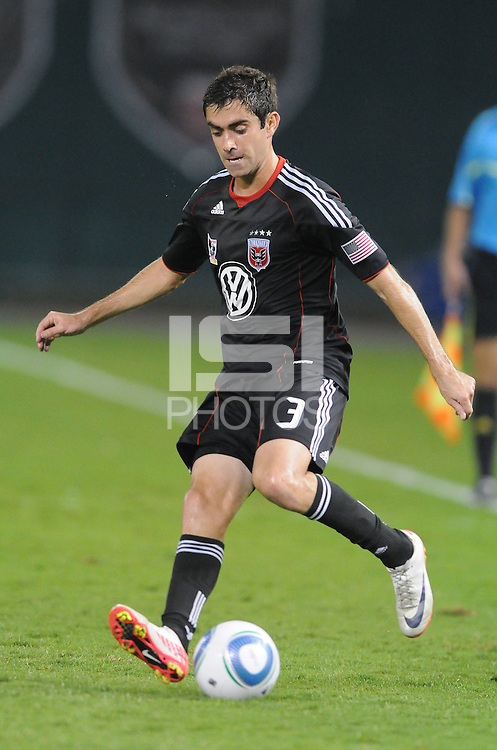 D.C. United midfielder Austin Da Luz (3). D.C. United defeated Real Salt Lake 4-1 at RFK Stadium, Saturday September 24 , 2011.