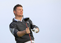 Brian O'Driscoll (AM) on the 12th tee during Round 3 of the 2015 Alfred Dunhill Links Championship at Kingsbarns in Scotland on 3/10/15.<br /> Picture: Thos Caffrey | Golffile