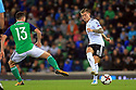 Northern Ireland's Corry Evans clashes with Germany's Toni Kroos during the FIFA World Cup 2018 Qualifying Group C qualifying soccer match between Northern Ireland and Germany at the National Football Stadium at Windsor Park, Belfast, Northern Ireland, 5 Oct 2017. Photo/Paul McErlane