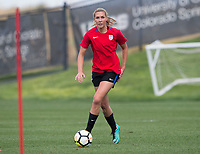 Denver, CO - September 13, 2017: The USWNT trains in preparation for their friendly against New Zealand.